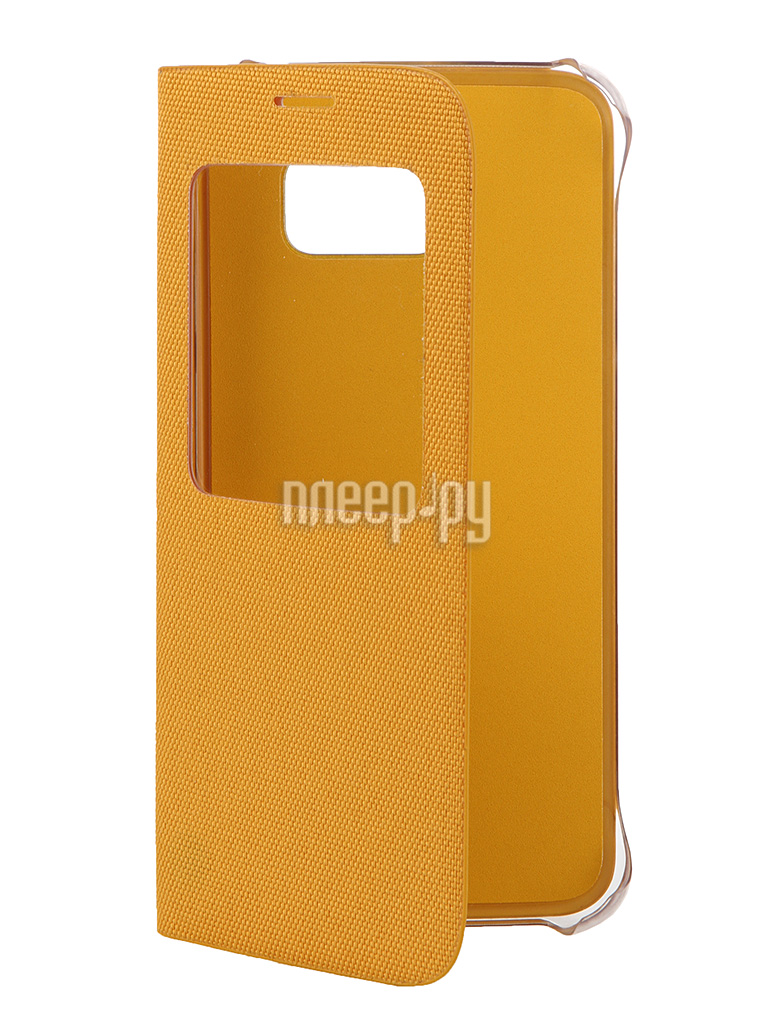 Аксессуар Чехол Samsung SM-G920 Galaxy S6 Flip S-View Fabric Yellow EF-CG920BYEGRU