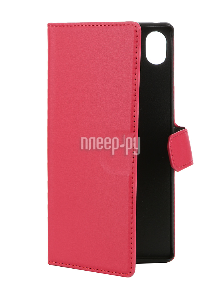Аксессуар Чехол-книжка Sony Xperia Z3+ Muvit MFX Wallet Folio Case Pink SEWAL0015
