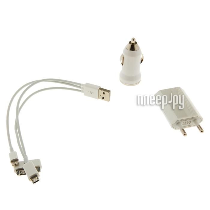 Зарядное устройство Luazon APPLE iPhone 4 / 5 / microUSB 833353