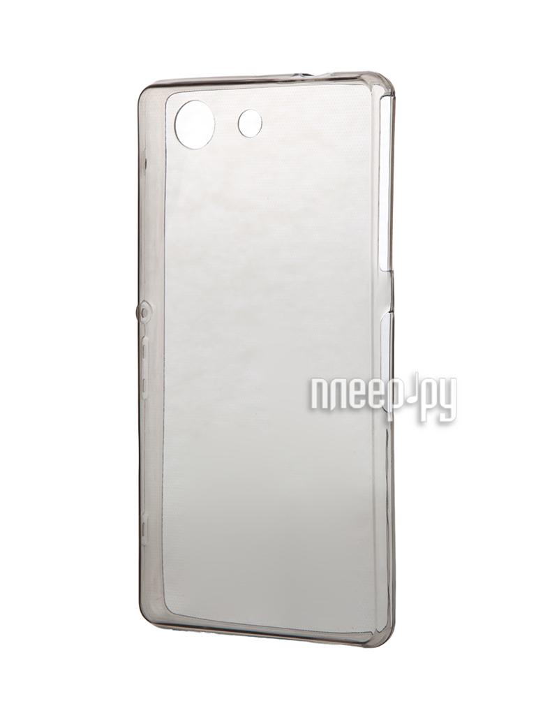 Аксессуар Чехол-накладка Sony Xperia Z3 Compact BROSCO силиконовый Black Z3C-BACK-01-BLACK
