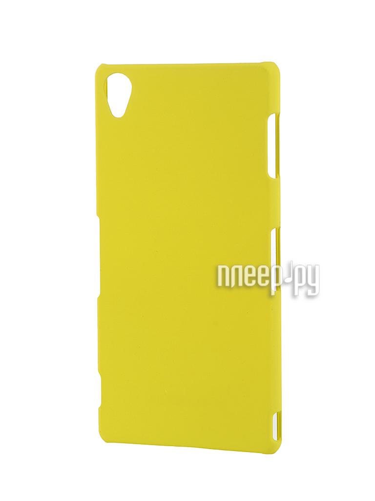 Аксессуар Чехол-накладка Sony Xperia Z3 BROSCO пластиковый Yellow Z3-BACK-03-YELLOW