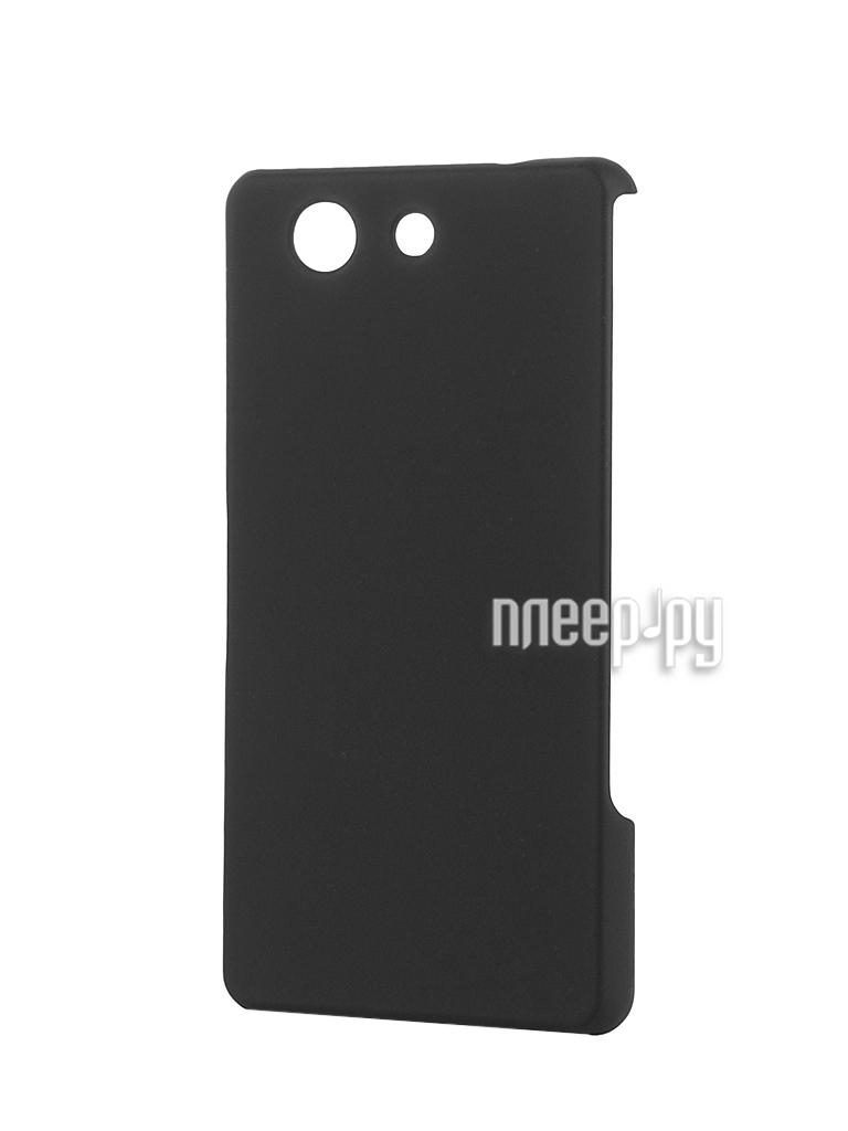 Аксессуар Чехол-накладка Sony Xperia Z3 Compact BROSCO пластиковый Black Z3C-BACK-03-BLACK