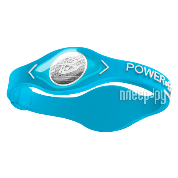 Браслет POWER BALANCE XS NEON Light Blue / White