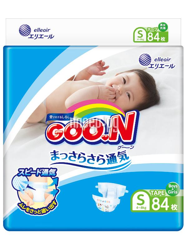 Подгузники Goo.N S 4-8кг 84шт 4902011751321
