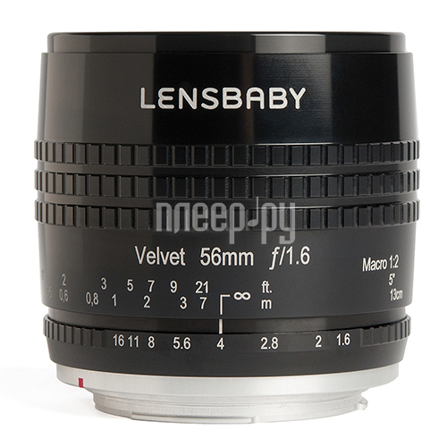 Объектив Lensbaby Velvet 56 mm F/1.6 1:2 Macro Black for Fuji X 83051 / LBV56BF