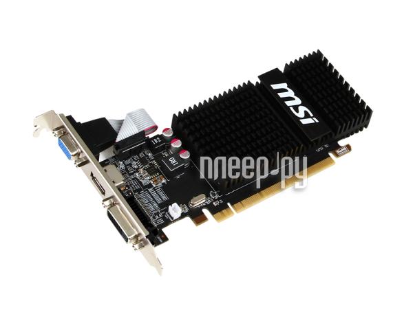 Видеокарта MSI Radeon R5 230 625Mhz PCI-E 2.1 2048Mb 1066Mhz 64 bit DVI HDMI HDCP R5 230 2GD3H LP