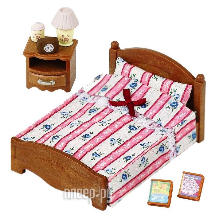 Игра Sylvanian Families Большая кровать и тумбочка 2934