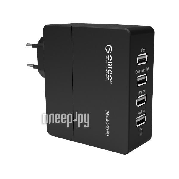 Зарядное устройство Orico DCA-4U-BK Black