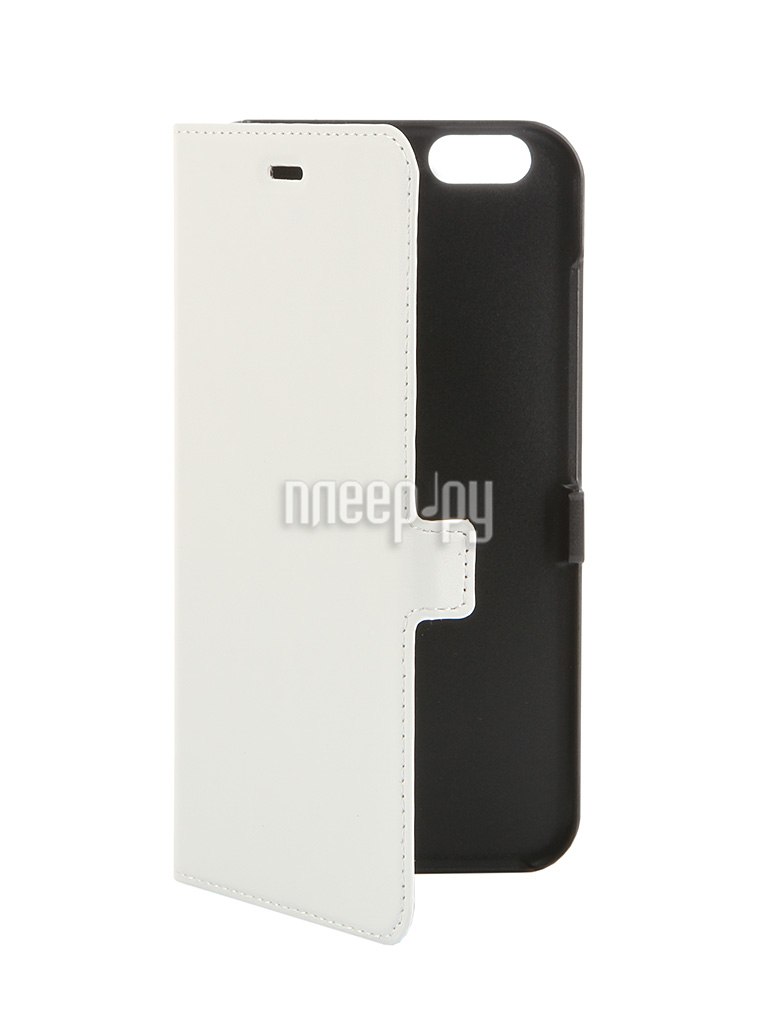 Аксессуар Чехол iPhone 6 Plus Muvit Smooth Slim Folio Case White MUSLI0564