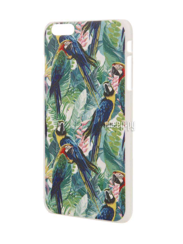 Аксессуар Чехол iPapai для APPLE iPhone 6 Plus Флора Попугаи