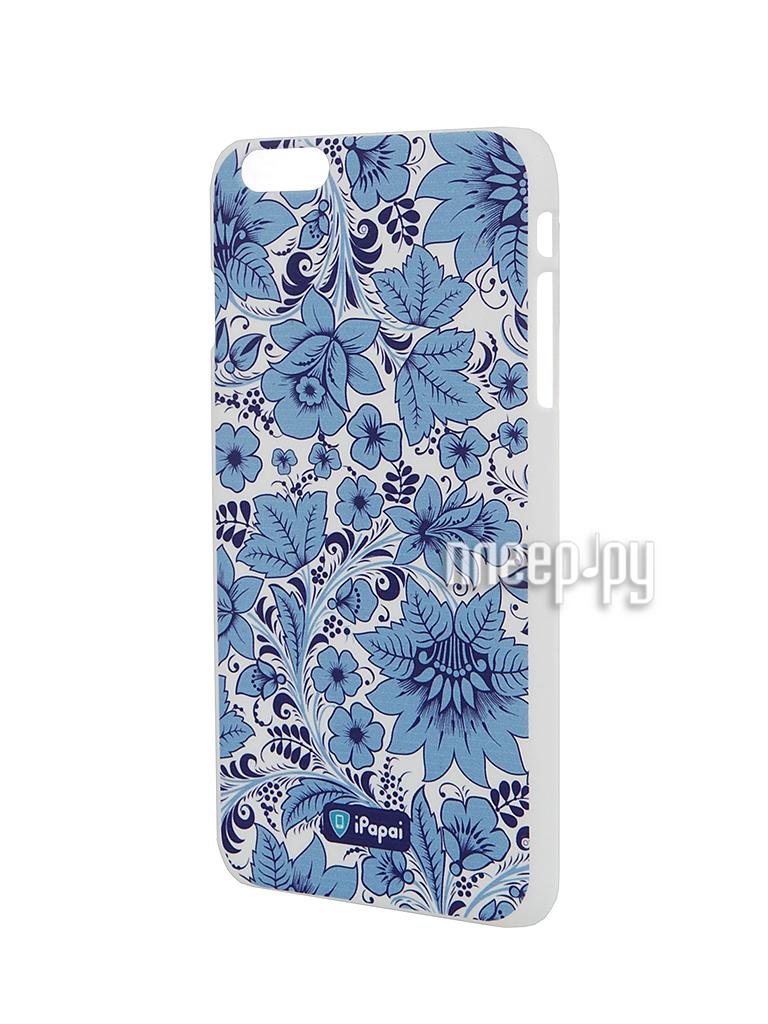 Аксессуар Чехол iPapai для iPhone 6 Plus Хохлома Light Blue