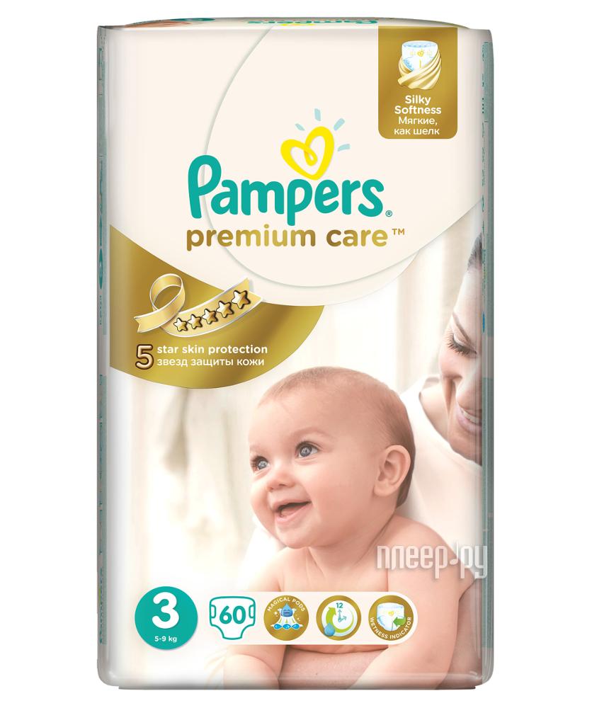 Подгузники Pampers Premium Care Jumbo Midi 5-9кг 60шт 4015400274780