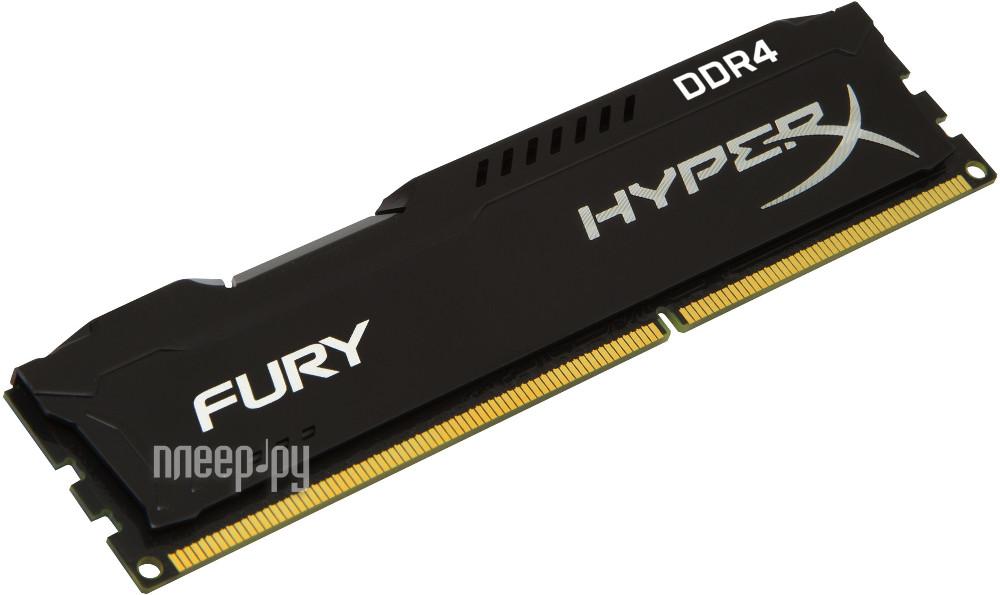 Модуль памяти Kingston HyperX Fury Black DDR4 DIMM 2400MHz PC4-19200 CL15 - 8Gb KIT HX424C15FB/8