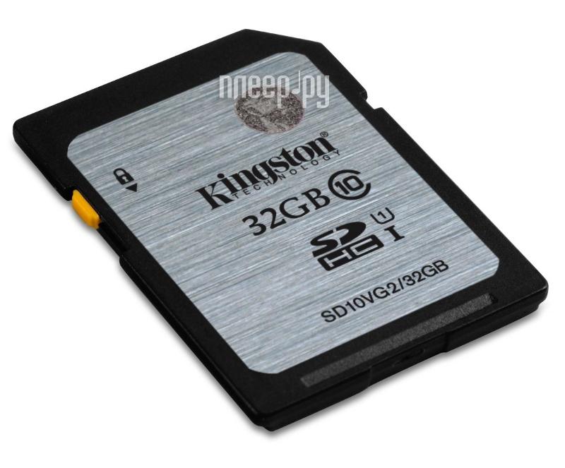 Карта памяти 32Gb - Kingston High-Capacity Class 10 - Secure Digital SD10VG2 / 32GB