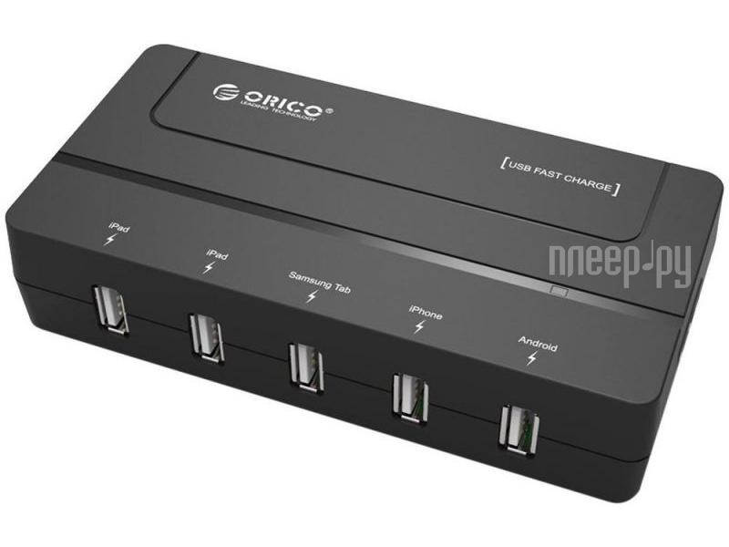 Зарядное устройство Orico DCH-5U-BK Black