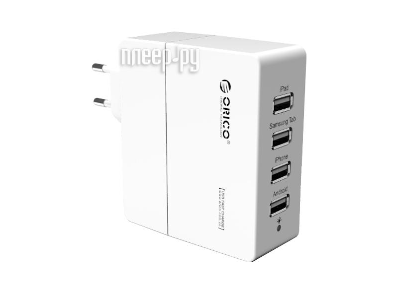 Зарядное устройство Orico DCA-4U-WH White
