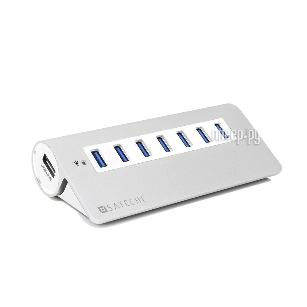 Satechi 7-Port USB 3.0 Premium Aluminum Hub White Trim B00CIY0KUG