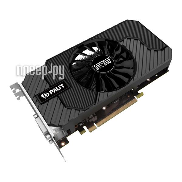 Видеокарта Palit GeForce GTX 950 1026Mhz PCI-E 3.0 2048Mb 6610Mhz 128 bit 2xDVI HDMI HDCP NE5X95001041-2063F