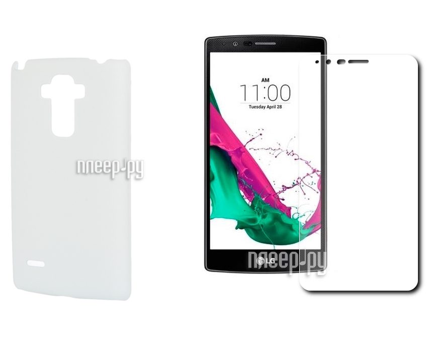 Аксессуар Чехол-накладка LG G4 Stylus SkinBox 4People White T-S-LG4Stylus-002 + защитная пленка