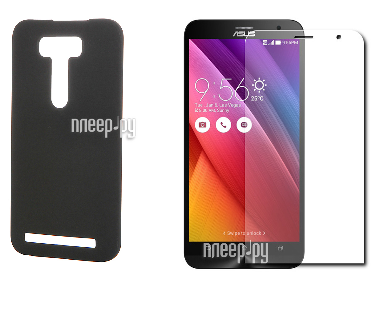 Аксессуар Чехол-накладка Samsung Galaxy A3 2016 Deppa Air Case + защитная пленка Black 83223