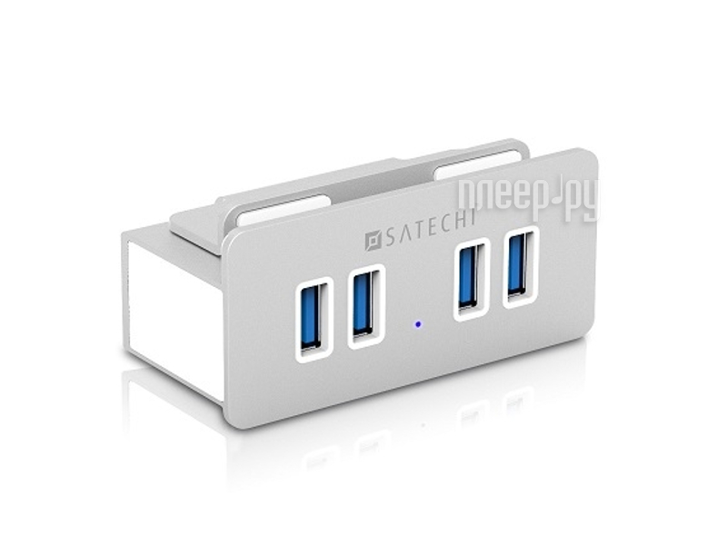 Хаб USB Satechi Aluminum Clamp Hub Premium 4-Port USB 3.0 Compatible with iMacs Released 2012 and Later B00S6YSWUW