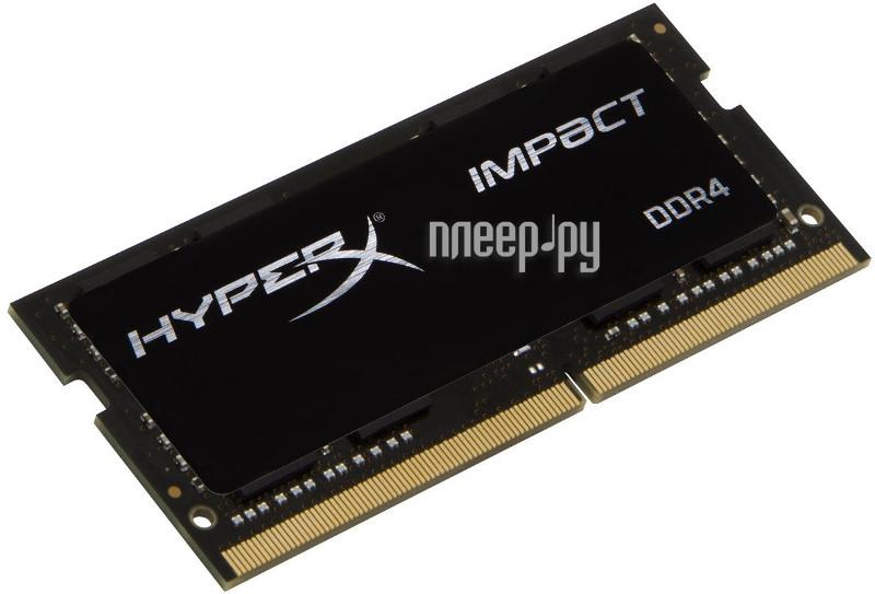 Модуль памяти Kingston DDR4 SO-DIMM 2400MHz PC4-19200 CL14 - 8Gb HX424S14IB/8