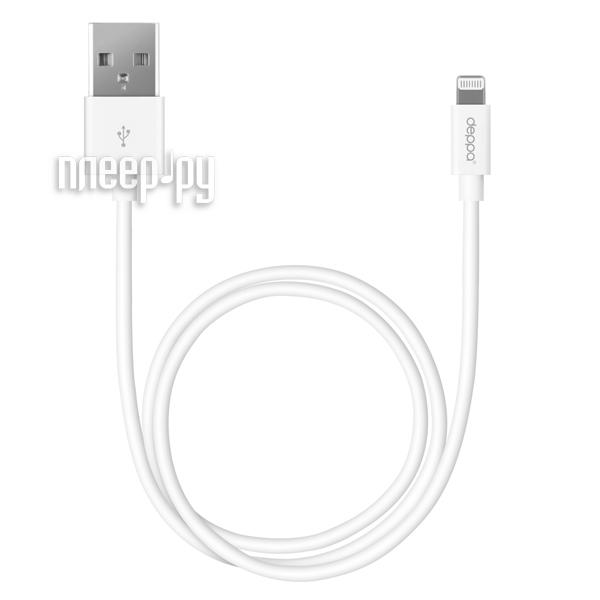 Аксессуар Deppa USB для iPhone 1.2m White Dep-72128