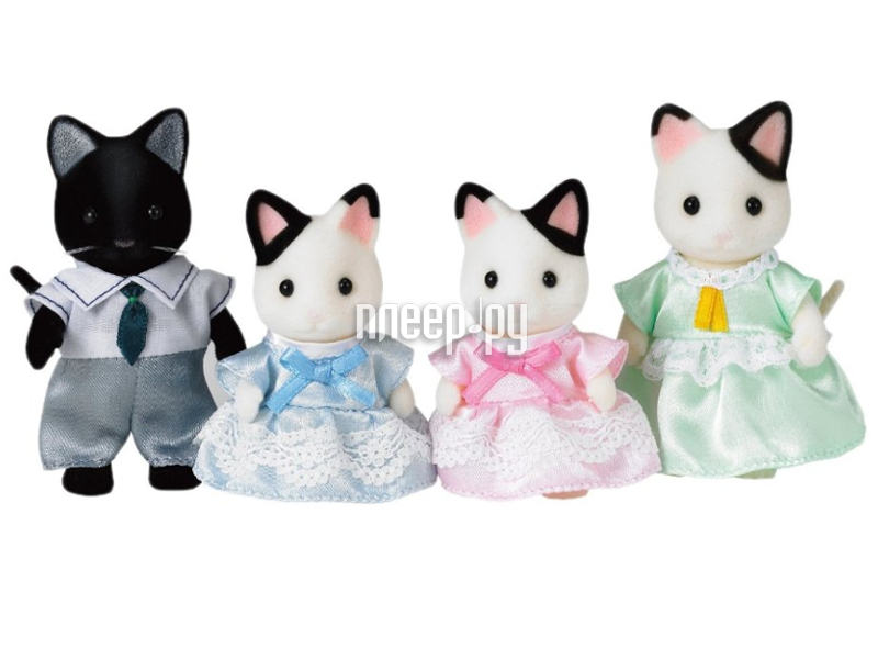Игра Sylvanian Families Семья Чёрно-белых котов 5181