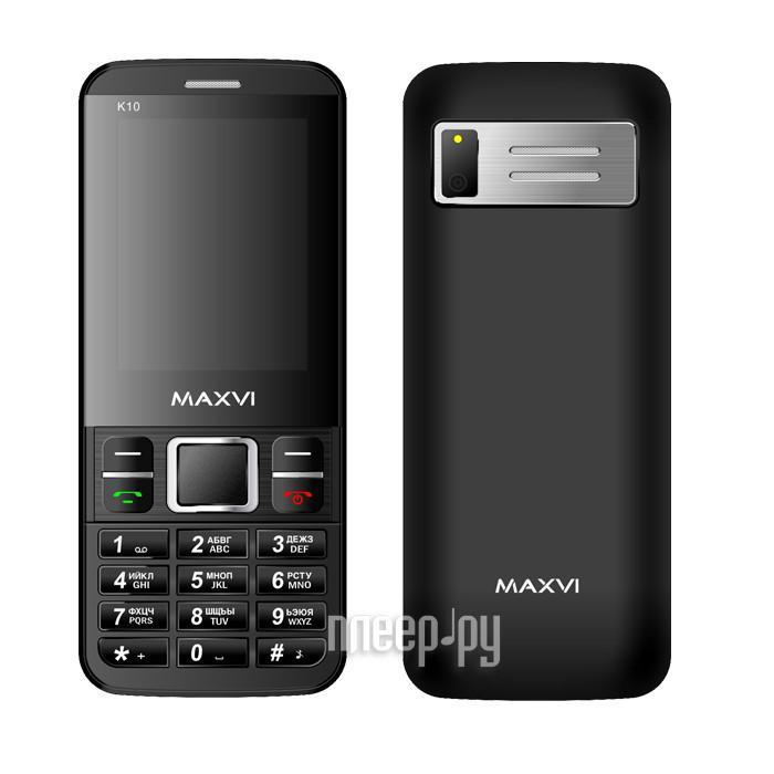 Сотовый телефон Maxvi K10 Black