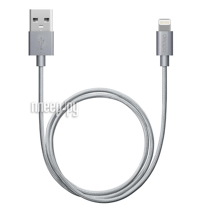 Аксессуар Deppa USB - 8-pin 1.2m Graphite 72189