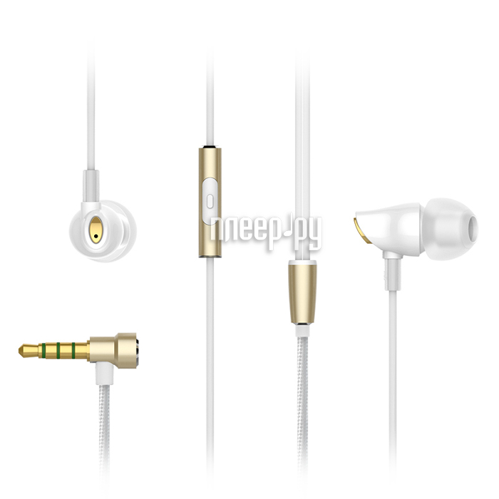 Гарнитура Rock Zircon Stereo Earphone White RAU0501
