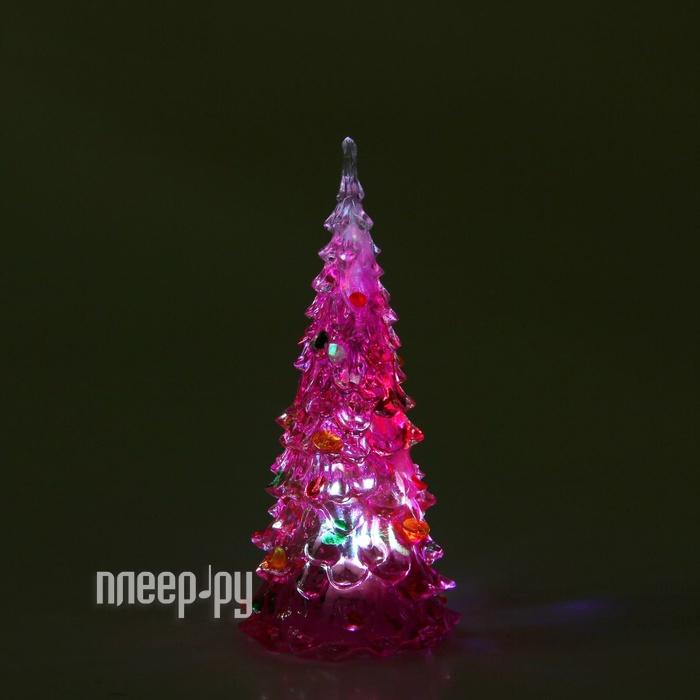 Новогодний сувенир Luazon Елочка радуга загадка Pink 1077307