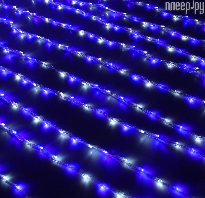 Гирлянда Luazon Занавес 2m-3m White-Blue 1080479