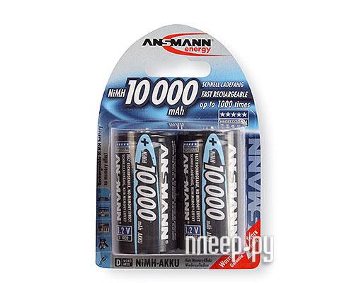 Аккумулятор D - Ansmann R20 10000 mAh Ni-MH бочка (2 шт) 5030642  Pleer.ru  1099.000