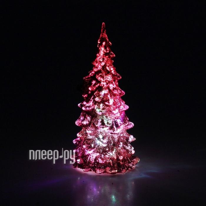 Новогодний сувенир Luazon Мерцающая елочка Pink 602888