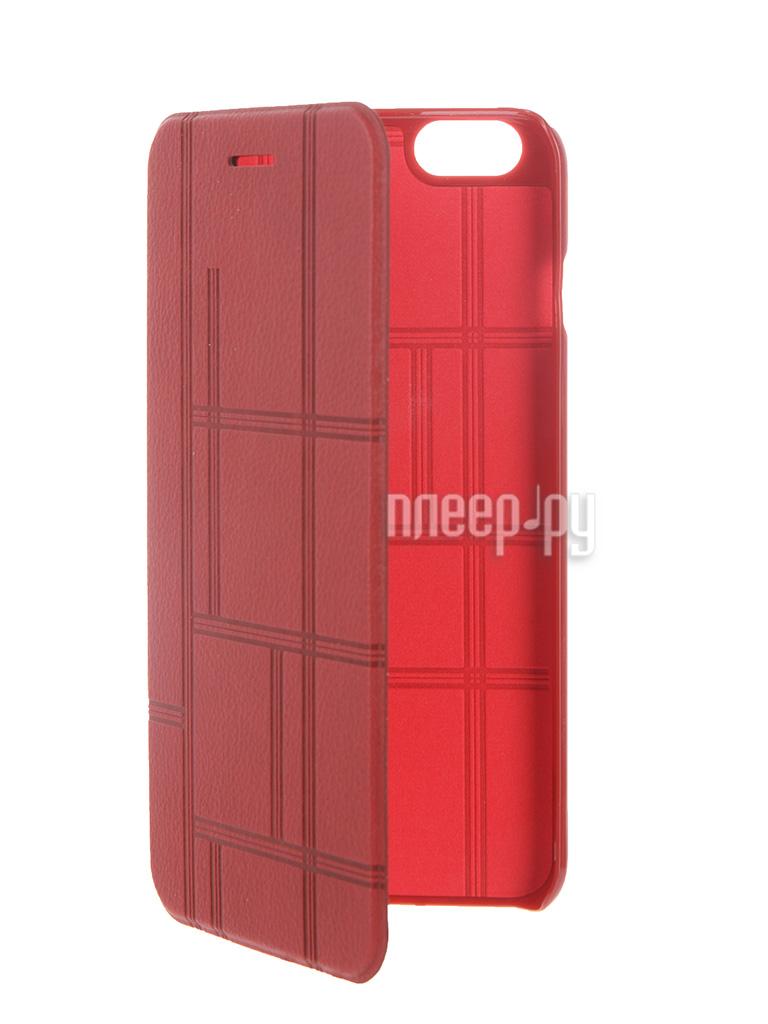Аксессуар Чехол-книжка MOMAX Elite Case для iPhone 6 Plus FDAPIP6LBD Red