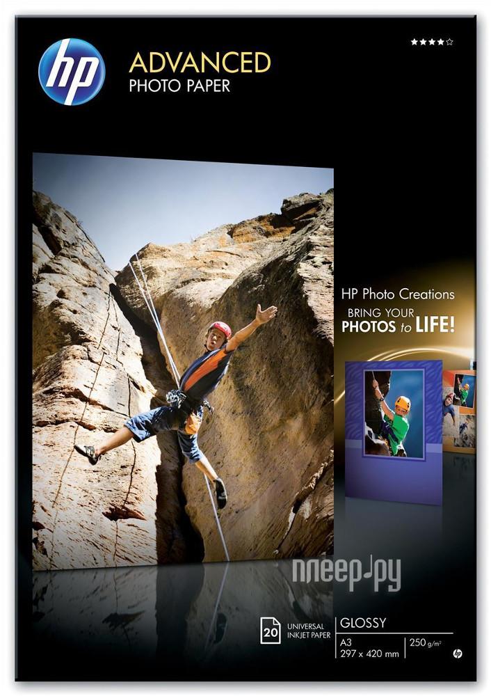 Фотобумага HP Q8697A Глянцевая 250g/m2 A3 20 листов