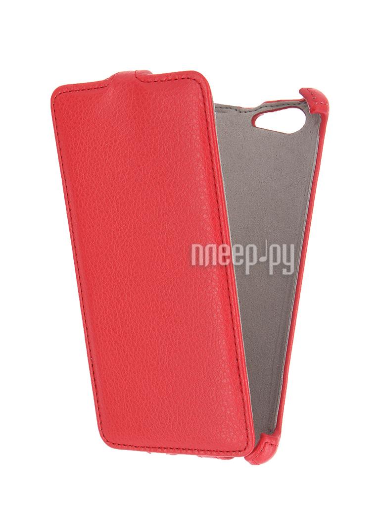 Аксессуар Чехол Sony Xperia M5 Activ Flip Leather Red 51267