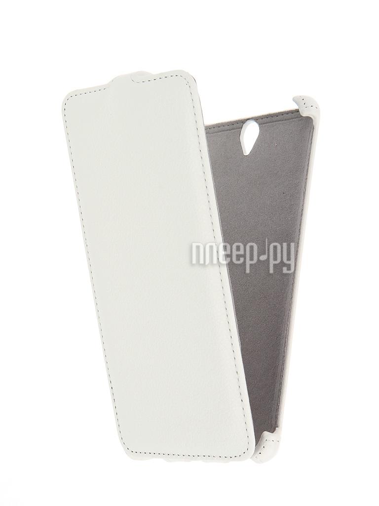 Аксессуар Чехол Sony Xperia C5 Ultra Activ Flip Leather White 51280
