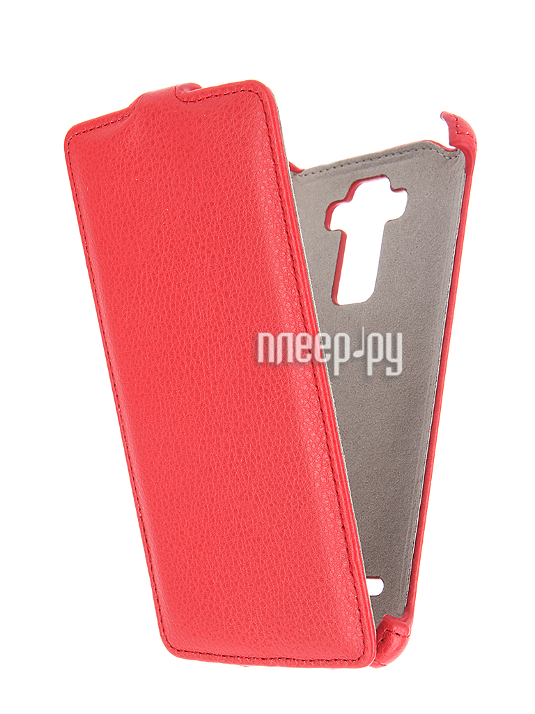 Аксессуар Чехол LG G4 Stylus Activ Flip Leather Red 51327