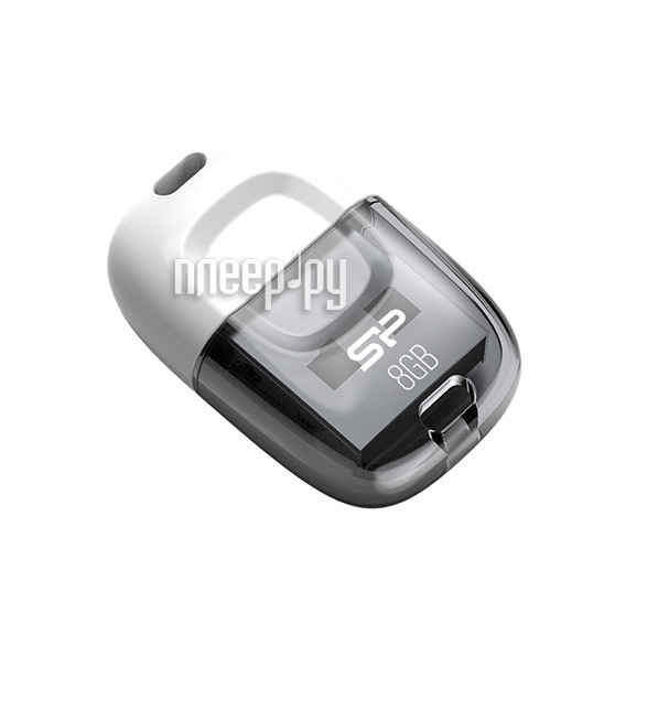 USB Flash Drive 8Gb - Silicon Power Touch T09 White