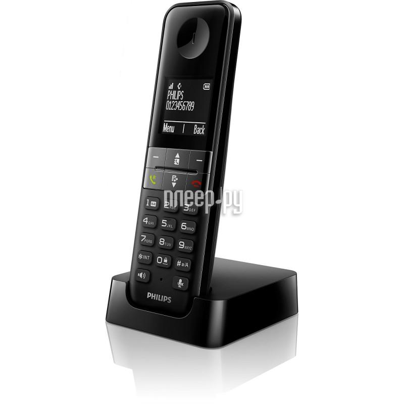 Радиотелефон Philips D 4501B Black