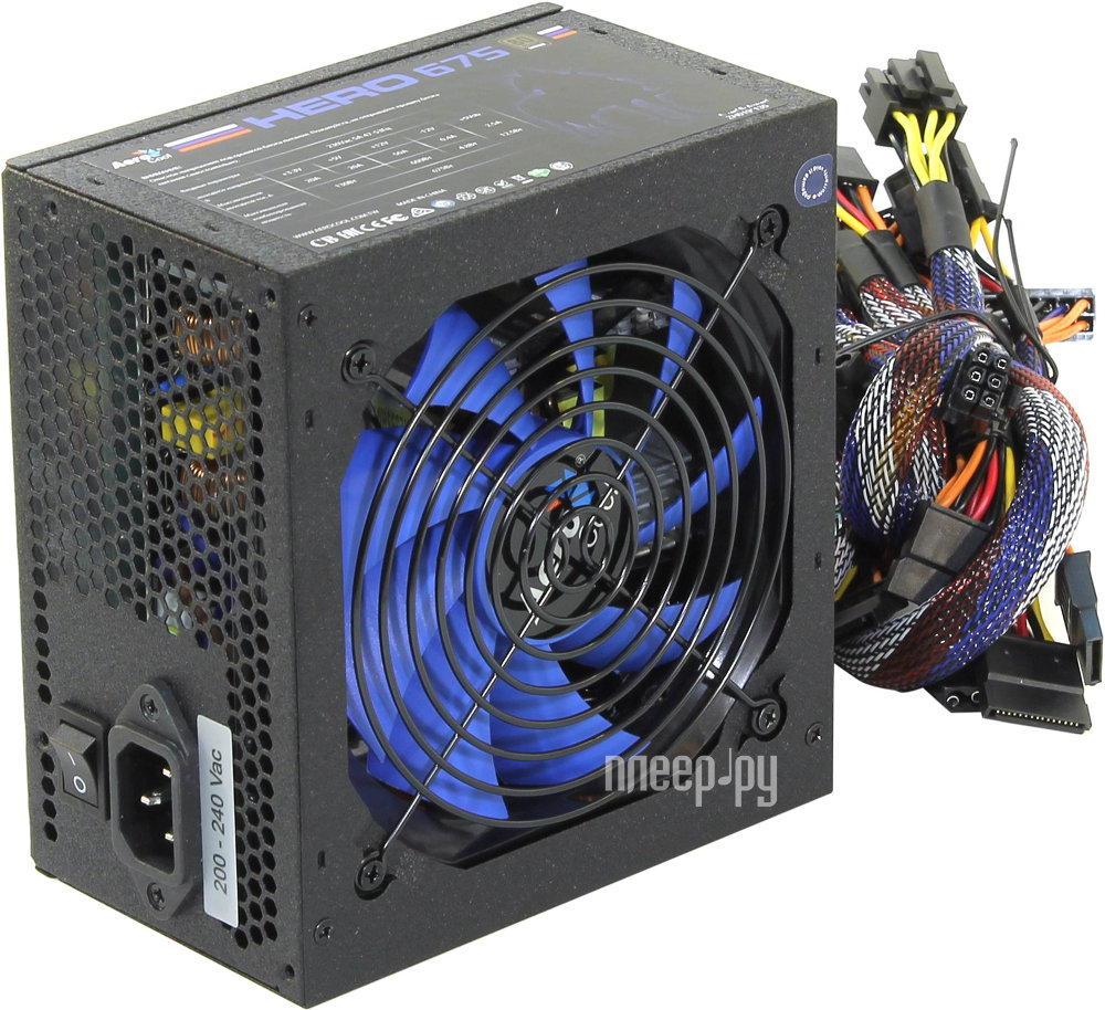 Блок питания AeroCool Hero 675 80+ ATX 675W Bronze