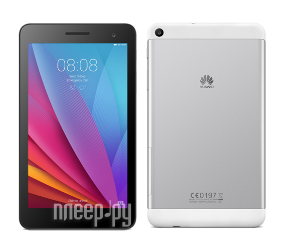 Huawei MediaPad T1 7.0 16Gb 3G T1-701U Silver-Black 53015055 (Spreadtrum SC7731G 1.2 GHz/1024Mb/16Gb/Wi-Fi/3G/Bluetooth/GPS/7.0/1024x600/Android)