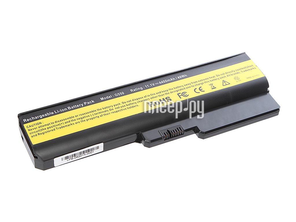 Аккумулятор Tempo LPB-G550 11.1V 4400mAh for Lenovo IdeaPad G555/G550/G530/B550/G430/G455/B460/G450 Series