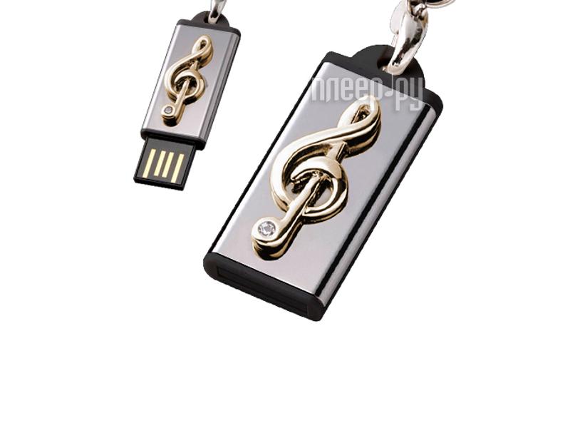 USB Flash Drive 8Gb - Iconik Моя мелодия Golden Swarovski MTFC-MELODY-8GB