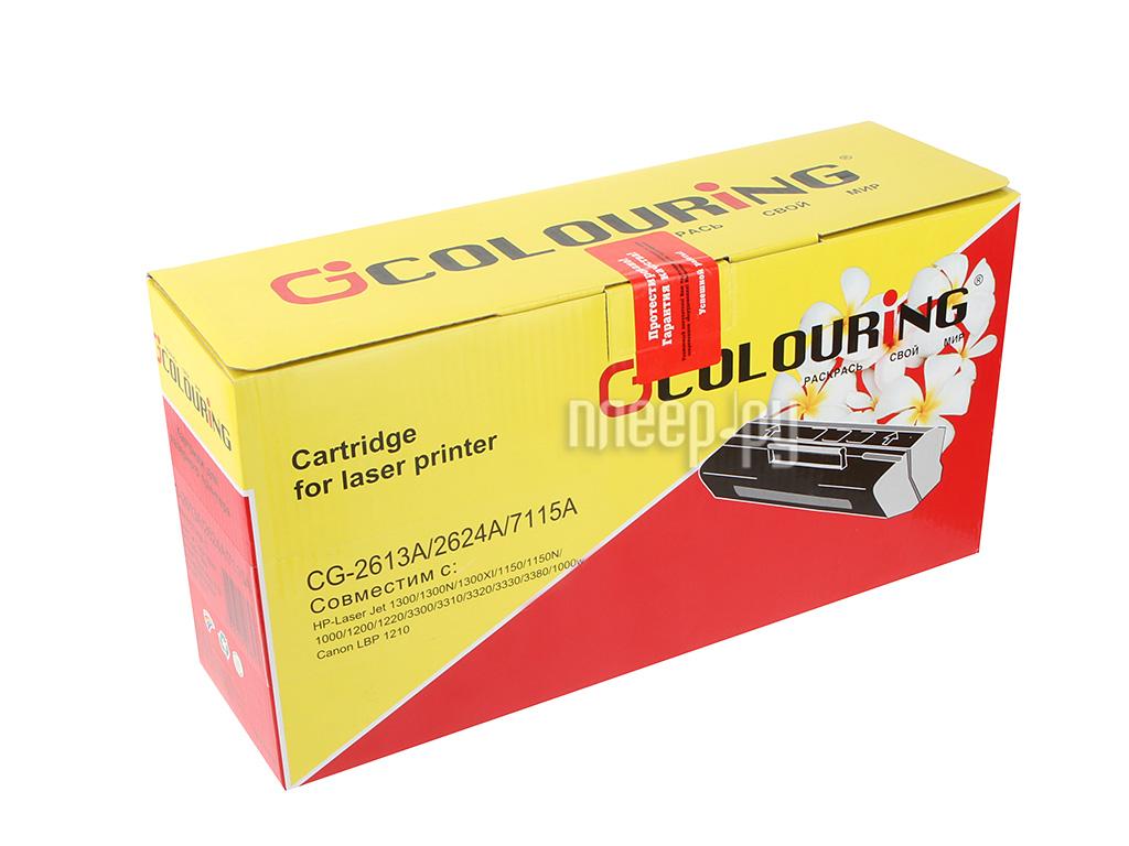 Картридж Colouring CG-Q2613A / Q2624A / C7115A для HP LaserJet 1000 / 1005 / 1200 / 1300 / 1150 / 1150n / 1300 / 1300n / 1300xi / 3300 / 3310 / 3320 / 3330 / 3380 Canon LBP-1210
