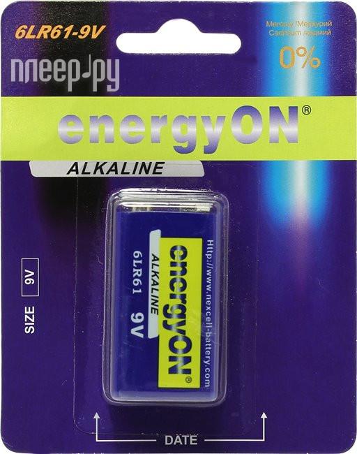 Батарейка NEXcell energyON Alkaline 6LR61-9V