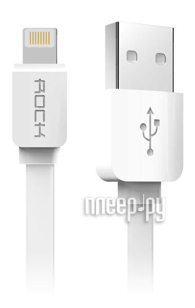 Аксессуар Rock Flat USB - Lightning 1m White