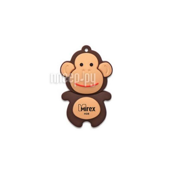 USB Flash Drive 4Gb - Mirex Monkey Brown 13600-KIDMKB04